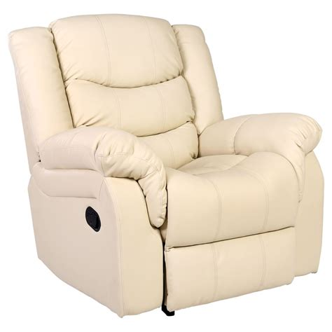 recliner armchair leather seattle cream leather recliner armchair sofa home lounge