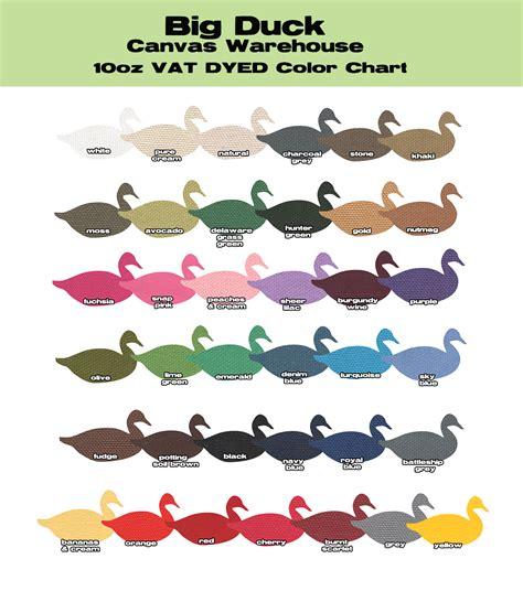 what color are ducks 10 oz cotton duck 10oz duck color chart big duck