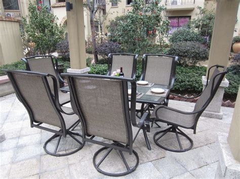 Outside Patio Dining Sets Furniture Furniture Patio Dining Furniture With Alumunium Dining Table And White Metal Outdoor