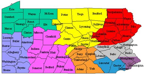 county map of pa pennsylvania map of counties and cities