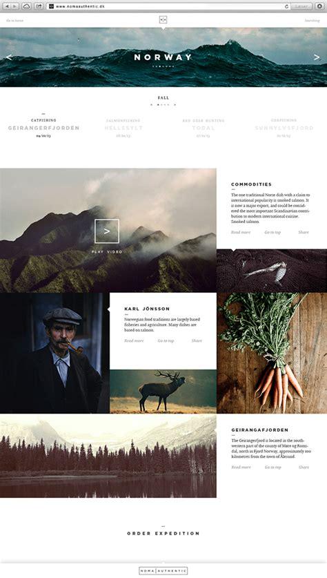 web layout behance noma authentic on pantone canvas gallery
