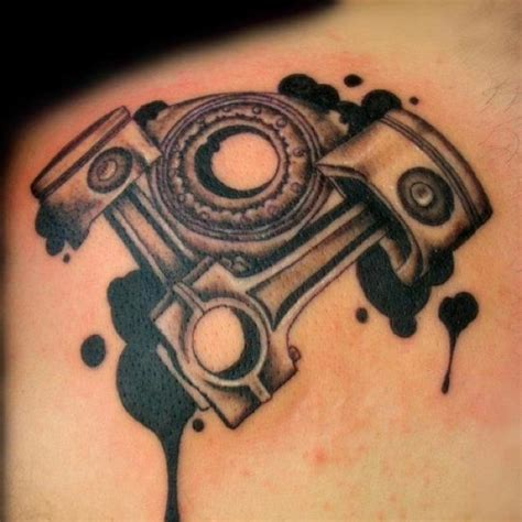 ink blot tattoo piston the ink blot drip design to this
