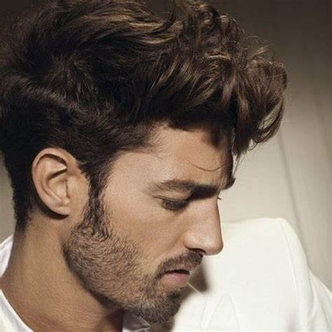 curly hair on top strsight on sides short hair 55 coolest short sides long top hairstyles for men men