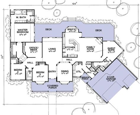 house plans with detached in suite house plan with guest suite