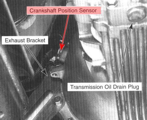 location of crank position sensor on 1997 kia sportage manual transmition