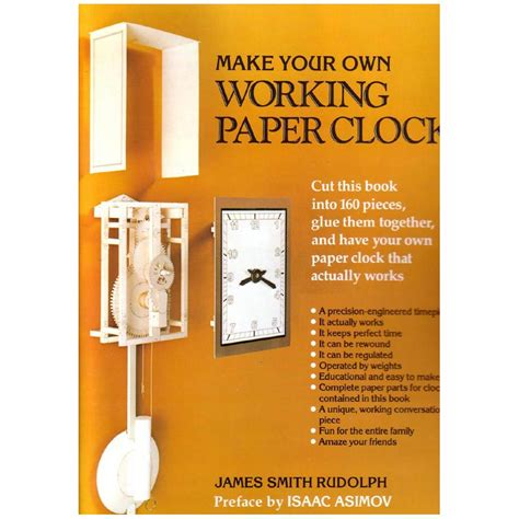 Make Your Own Working Paper Clock - make your own working paper clock harpercollins papel3d