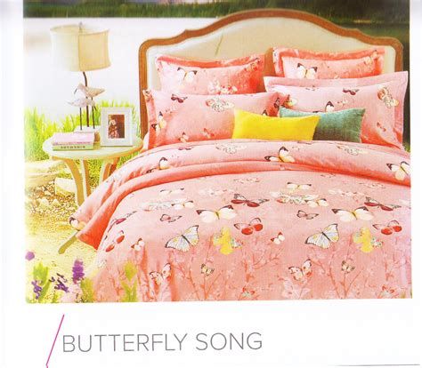 Sprei Motif Butterfly Pink 180x200 jual sprei murah motif butterfly song pink