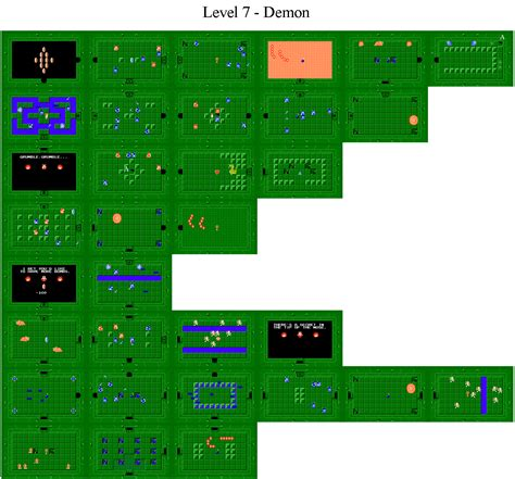 legend of zelda map level 6 the legend of zelda world dungeon maps