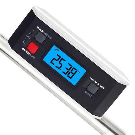 digital protractor inclinometer v groove angle finder meter construction ebay