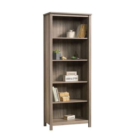 sauder salt oak bookcase 5 shelf bookcase in salt oak 418959