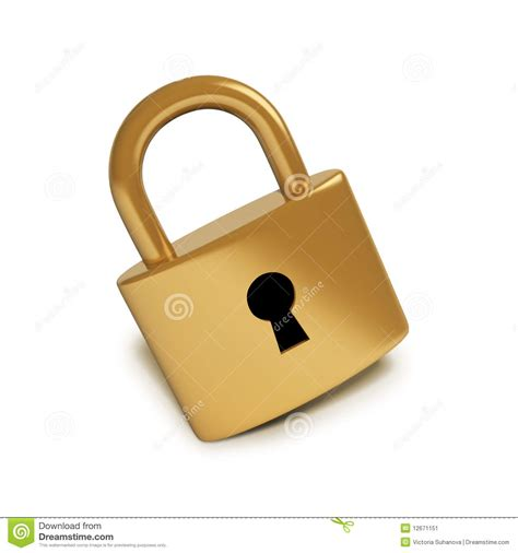 What Is Lock by Golden Lock Stock Image Image 12671151