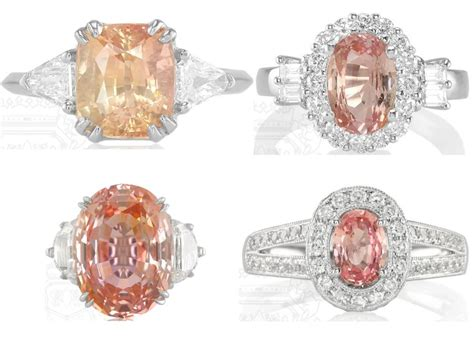 padparadscha sapphire engagement ring peach sapphire why peach is hot for engagement rings