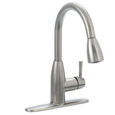 kitchen faucet stainless steel standard fairbury single handle pull sprayer