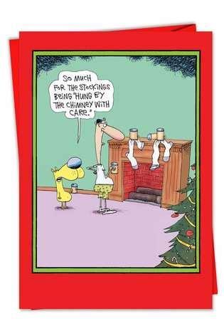 chimney  care funny christmas card  nobleworks