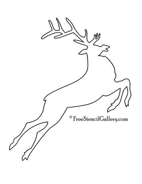 reindeer silhouette template reindeer stencil printable images