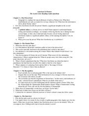 Scarlet Letter Introduction Quiz Reading Comprehension Questions The Scarlet Letter