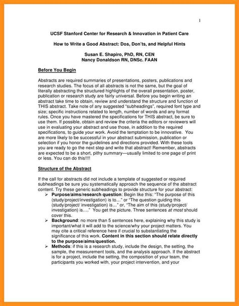 Abstract Essay by 6 Writing An Abstract For An Essay Agenda Exle