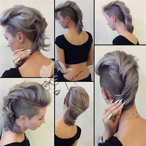 mohawk hairstyles ll eaving hair long at back of head 35 short punk hairstyles to rock your fantasy