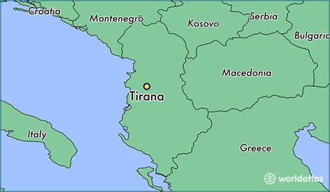 where is albania on the map albania on world map images