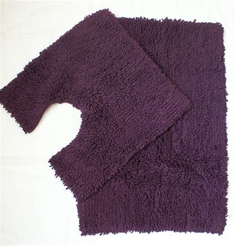 Aubergine Bath Mat by Chenille Twists Bath Mat Set Aubergine Childrens