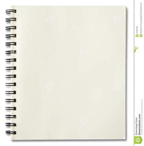 cuaderno espiral cuaderno espiral en blanco foto de archivo imagen 43423138