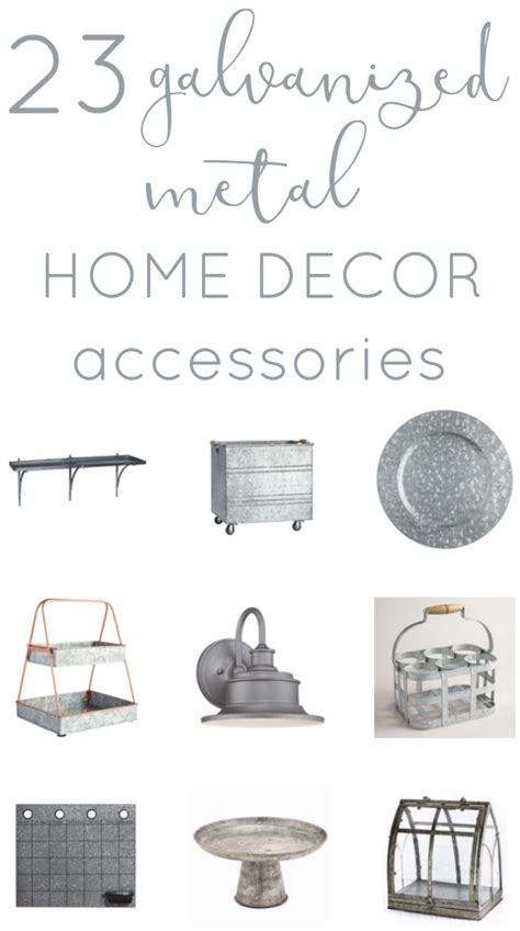 metal home decorating accents decor trend galvanized metal accessories the inspired hive