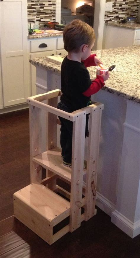 Fold Up Step Ladder by Child Kitchen Helper Step Stool By Teddygramstottowers On