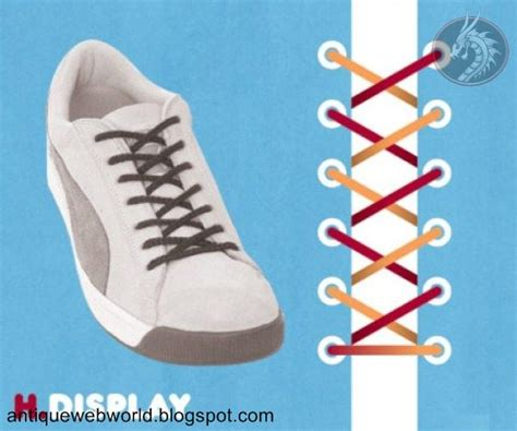 different ways to tie shoes antique web world different way to tie your shoelace