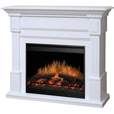 White Electric Fireplace Dimplex Essex 54 Inch Electric Fireplace With Purifire