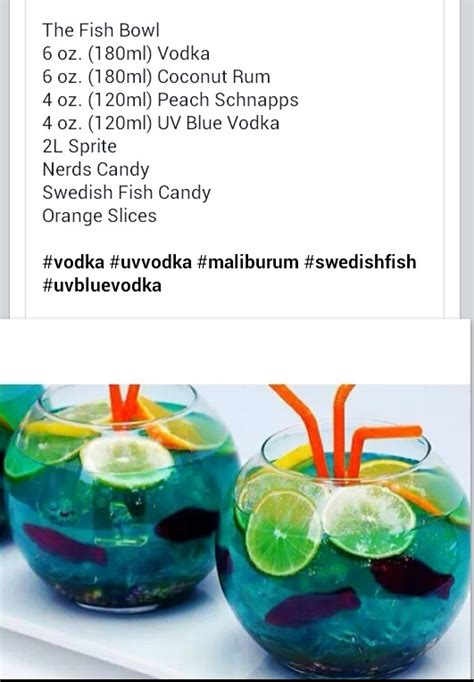 alcoholic drink recipes fish bowl alcoholic drink for a summer themed