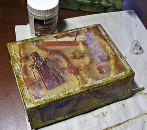 Decoupage Medium - recycle cool product boxes the artful crafter