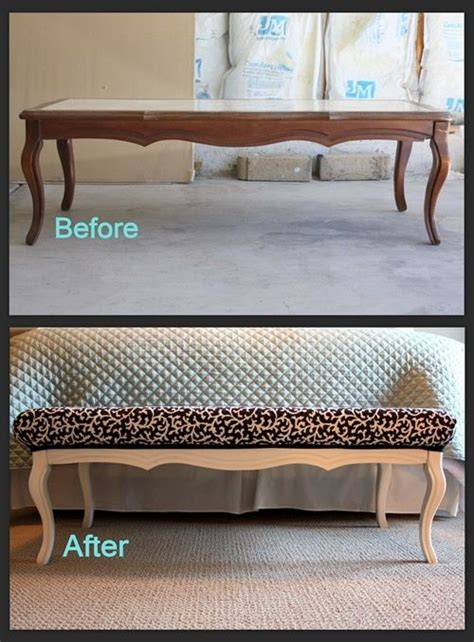 coffee table into a bench coffee table turned into a bench craft ideas pinterest