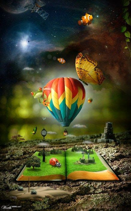libro the many worlds of book magic is that madison moon in the hot air balloon fantastic art collection