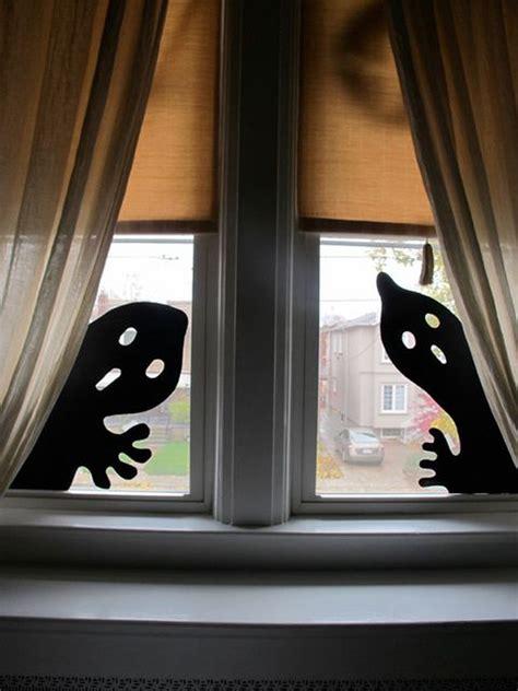 scary diy halloween window silhouettes homemydesign