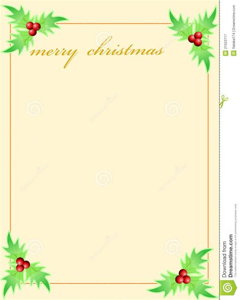 blank template  christmas  card stock illustration illustration  corner cute