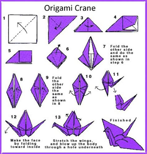 Origami Crane Steps - irandomness origami crane my features article