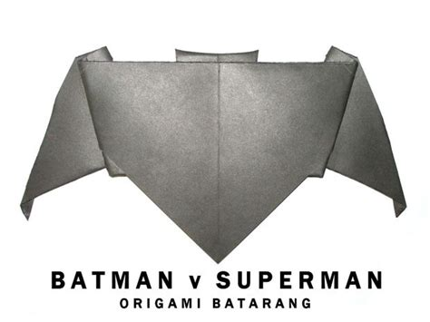 How To Make A Paper Batman Batarang - batman v superman origami batarang