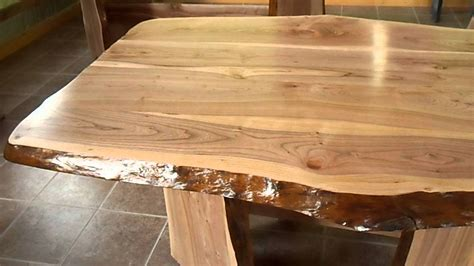 Table En Bois Table En Bois En Tranche D Arbre De Cerisier