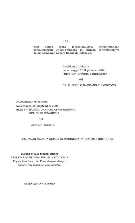 Undang Undang Republik Indonesia Tentang Pajak Penghasilan uu nomor 36 tahun 2008 perubahan keempat atas undang undang nomor 7 t