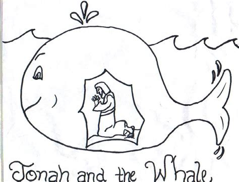 jonah and the big fish coloring page az coloring pages