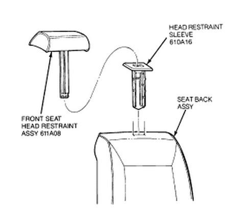 how to remove head rest on a 1992 eagle summit how do you remove the head restraints in a 1992 mustang