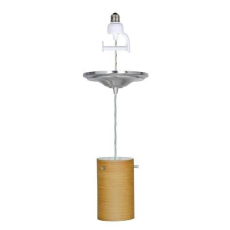 Home Depot Pendant Light Kit Worth Home Products 1 Light Brushed Nickel Instant Pendant Conversion Kit With Glass Shade