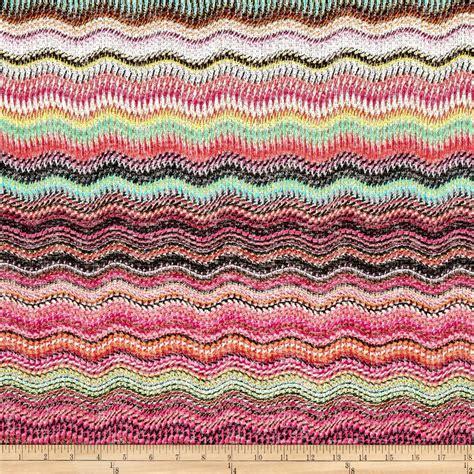 pattern making knit fabric sweater knit wave pattern fuchsia pink green discount