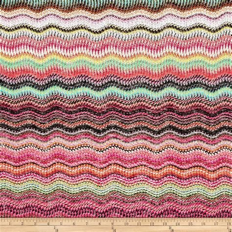 pattern fabric pink sweater knit wave pattern fuchsia pink green discount