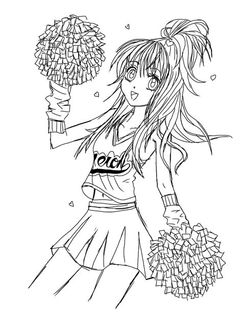 cheerleader coloring pages coloringsuite com