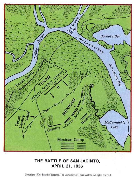 texas revolution map 1836 the battle of san jacinto april 21 1836