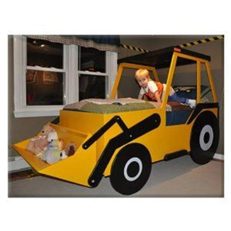bett yellow möbel lit de tractopelle lit chambre enfant