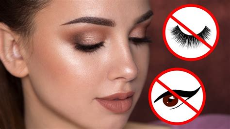 Eyeshadow Inez No 1 easy summertime makeup tutorial no eyeliner false lashes