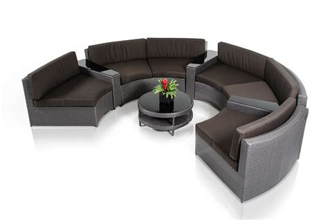 outdoor furniture circular couch shore modern circular sectional sofa patio set