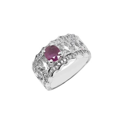 1 carat antique ruby engagement ring for